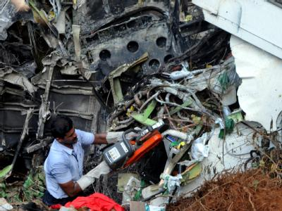 Flugzeugwrack in Mangalore