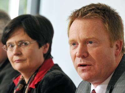 «Gemeinsamer Aufbruch»: Die designierte CDU-Ministerpräsidentin Christine Lieberknecht und SPD-Landeschef Christoph Matschie wollen Thüringen regieren.