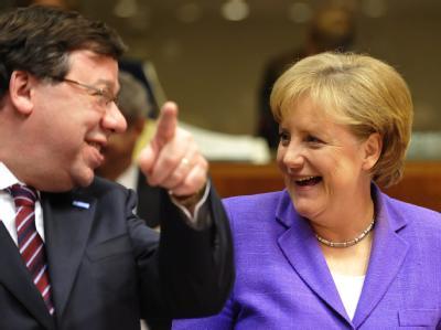 Brian Cowen und Angela Merkel