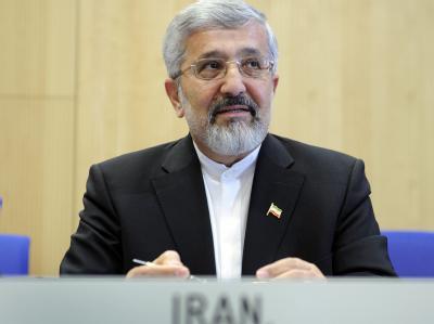 Der Chef der iranischen Atom-Delegation, IAEA-Botschafter Ali Asghar Soltanieh, in Wien.