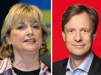 Abgeordnete Elke Hoff und J�rn Thie�en