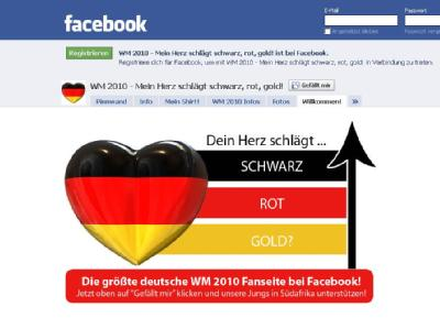 Facebook-Gruppe zur Nationalmannschaft (Screenshot)