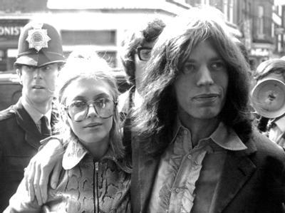 Marianne Faithfull und Mick Jagger