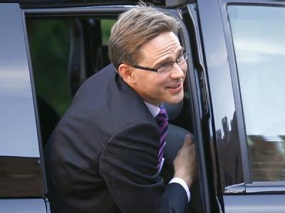 Seine konservative Partei könnte laut Umfragen mit knapp über 21 Prozent stärkste Partei werden: von Finanzminister Jyrki Katainen. (Archivbild)