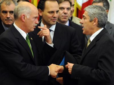 Giorgos Papandreou bei EU-Gipfel