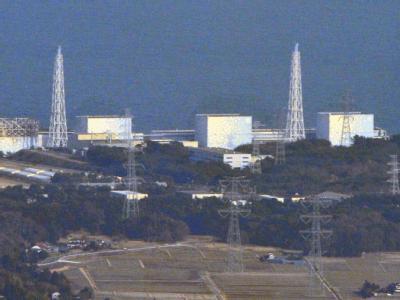 Blick auf das japanische Katastrophen-Kernkraftwerk Fukushima. Foto:Kyodo/Archiv
