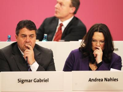 Laut «BamS» traut SPD-Chef Gabriel Generalsekretärin Nahles den Bundestagswahlkampf «schlicht nicht zu».