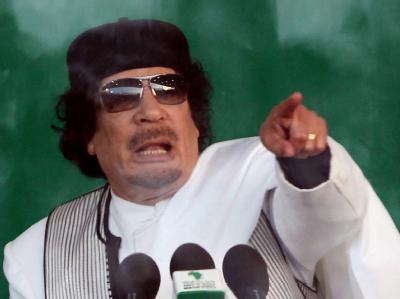 Klammert sich weiterhin an die Macht: Muammar al-Gaddafi.