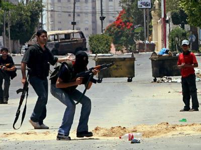 Kämpfe zwischen Hamas und Fatah im Gazastreifen (Archivbild vom 13.7.2007).