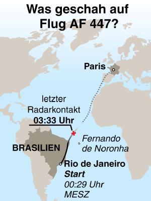 Die A330-200 war in Rio am Montag um 19.29 Uhr Ortszeit abgehoben.
