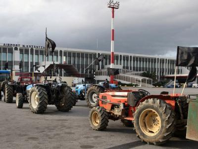 Griechische Bauern protestieren
