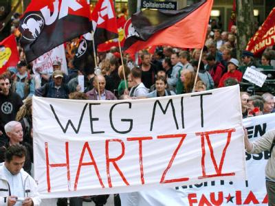 Protest gegen Hartz IV