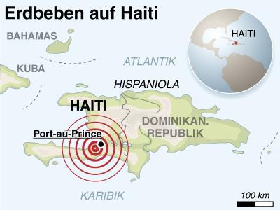 Das Zentrum des Erdbebens lag nahe der haitianischen Hauptstadt Port-au-Prince.