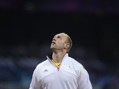Diskus-Olympiasieger Robert Harting ist in London ausgeraubt worden. Foto: Marius Becker
