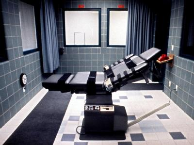 Blick auf den Todesstuhl im Exekutionsraum eines US-Gefängnisses.