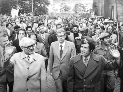 Honecker und Gaddafi