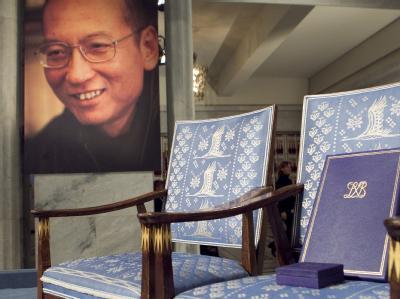 Liu Xiaobo konnte 2010 seinen Friedensnobelpreis nicht in Empfang nehmen, da er in China inhaftiert ist.