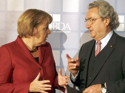Angela Merkel und Dieter Hundt