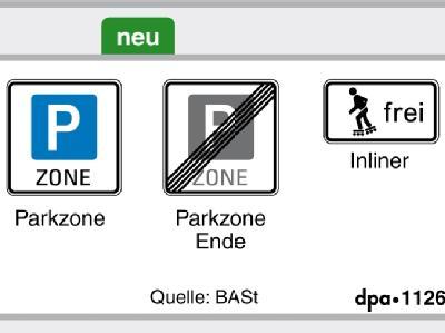Neue Verkehrsschilder: Dass Skaten auf Fahrbahnen, Seitenstreifen oder Radwegen zugelassen wird, zeigt ein neues Viereckszeichen mit der Aufschrift «frei».