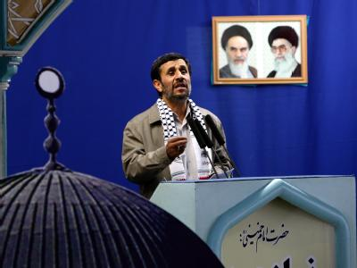 Die Entscheidung über einen zukünftigen Palästinenserstaat werde allein von den Palästinensern getroffen «und nicht in Washington, London oder Paris», so Irans Präsident Ahmadinedschad.