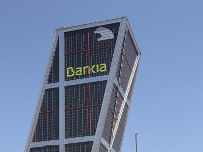 Blick auf die Zentrale der angeschlagenen Bankia in Madrid. Foto: Leonardo Wen/Archiv