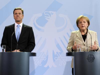 Bundeskanzlerin Angela Merkel und Vizekanzler Guido Westerwelle sagten Spekulanten den Kampf an.