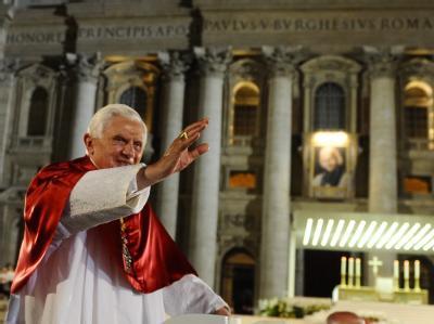 Papst Benedikt XVI. am Donnerstag während einer Messe im Vatikan.