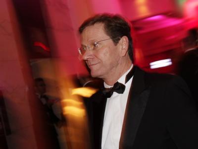 Bundesaußenminister Guido Westerwelle beim Bundespresseball 2009.