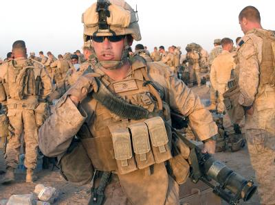 US-Soldaten bereiten sich auf eine Militäroperation in der Provinz Helmand vor (Archivfoto vom 2.7.2009).