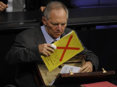 Bundesfinanzminister Schäuble am vergangenen Freitag auf der Regierungsbank im Bundestag.