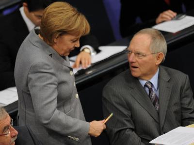 Merkel und Sch�uble