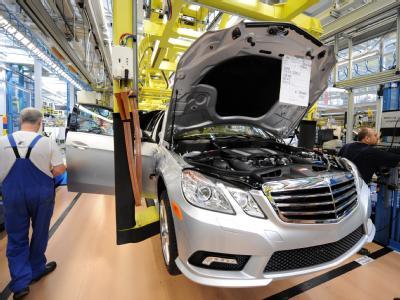 Produktion im Daimler-Werk in Sindelfingen