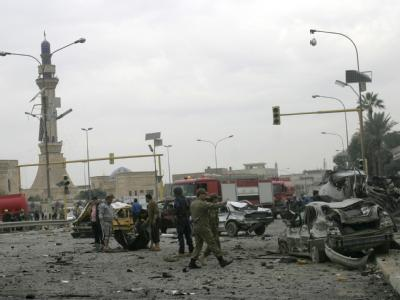 An verschiedenen Orten in Bagdad sind kurz hintereinander vier Bomben explodiert.