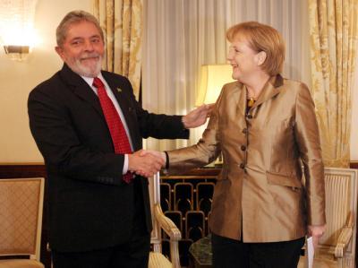 Luiz Inacio Lula da Silva und Angela Merkel