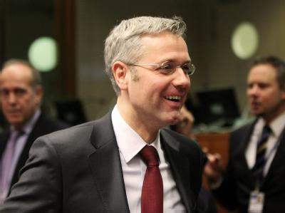 Umweltminister Röttgen beim Treffen der EU-Umweltminister in Brüssel.