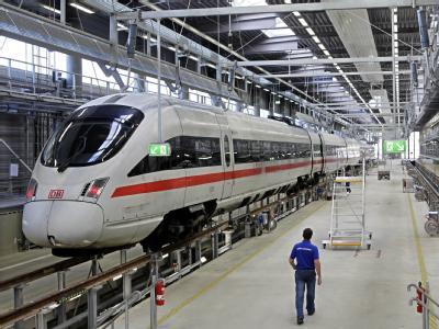 ICE-Wartungswerk in Leipzig: Im Weihnachtsverkehr fällt auf der ICE-Strecke Berlin-Leipzig-Nürnberg München jeder zweite Zug aus.
