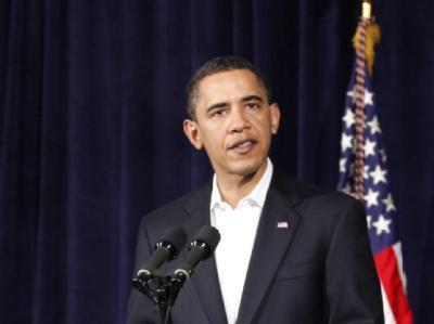 US-Präsident Obama während seiner Rede auf Hawaii.