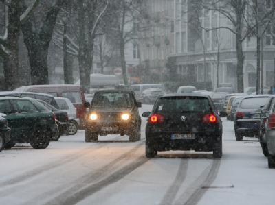 Schneefall in Hamburg