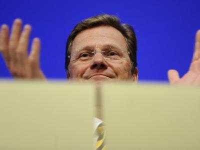 Bundesaußenminister Guido Westerwelle beim traditionellen Dreikönigstreffen der FDP.