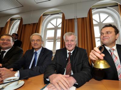 CSU-Spitzenpolitiker bei der Winterklausur der CSU-Landesgruppe im Bundestag in Wildbad Kreuth.