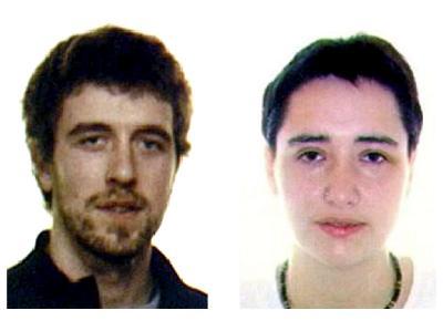 Fahndungsbilder der zwei bei Clermont-Ferrand festgenommenen mutmaßlichen ETA-Mitglieder.