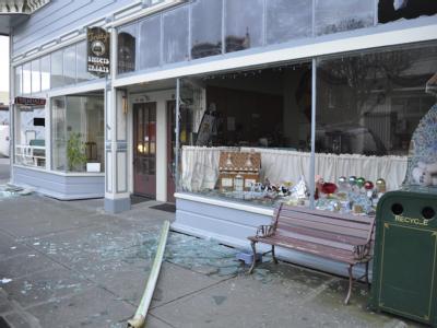 Zerstörtes Geschäft in Ferndale
