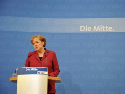 Bundeskanzlerin Angela Merkel nach der Klausurtagung des CDU-Vorstandes.