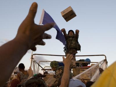 Die Vereinten Nationen verteilen Lebensmittel in Haiti, dennoch ist die Verzweiflung groß.