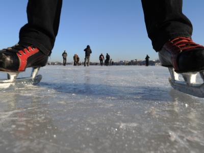Eis auf der Außenalster