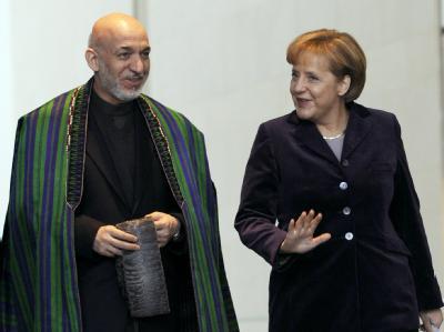 Bundeskanzlerin Merkel empfing den afghanischen Präsidenten Karsai.