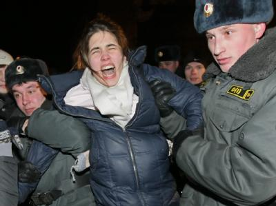 Dissidenten in Moskau festgenommen