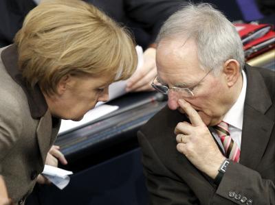 Angela Merkel und Wolfgang Sch�uble