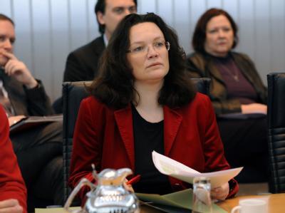 SPD-Generalsekretärin Andrea Nahles unterstützt eine Aufstockung der deutschen Truppen in Afghanistan.