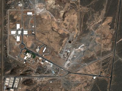Eine Satellitenaufnahme vom Juli 2004 zeigt die Atomanlage im zentraliranischen Natans. Foto: DigitalGlobe